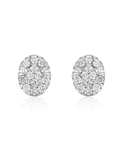 Julius Rappoport Brand New Earring with 2ctw diamond 18K White gold