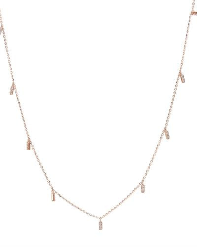 Brand New Necklace with 0.16ctw diamond 14K Rose gold