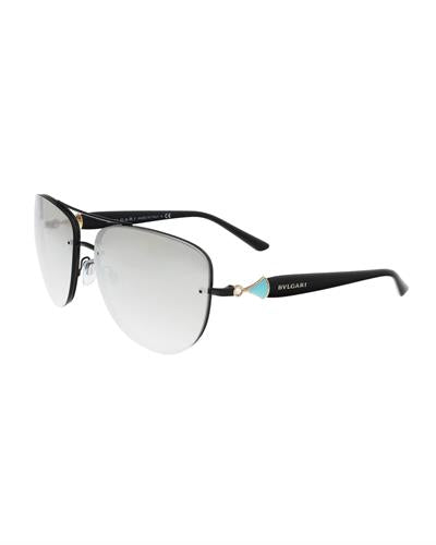 Bulgari BV6086B 239/6G Brand New Sunglasses  Black metal