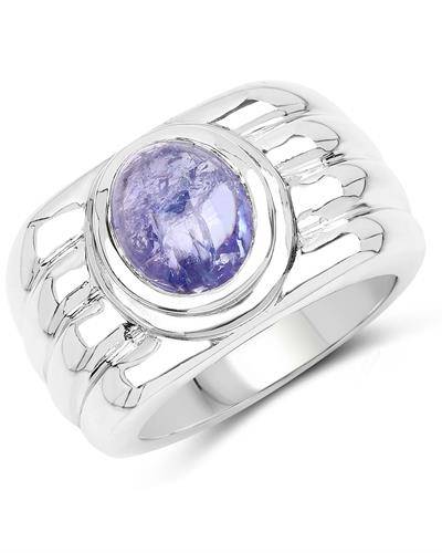 Brand New Ring with 3.55ctw tanzanite 925 Silver sterling silver