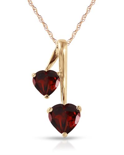 Magnolia Brand New Necklace with 1.4ctw garnet 14K Yellow gold