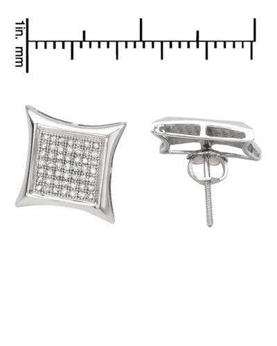 Lundstrom Brand New Earring with 0.35ctw diamond 14K White gold