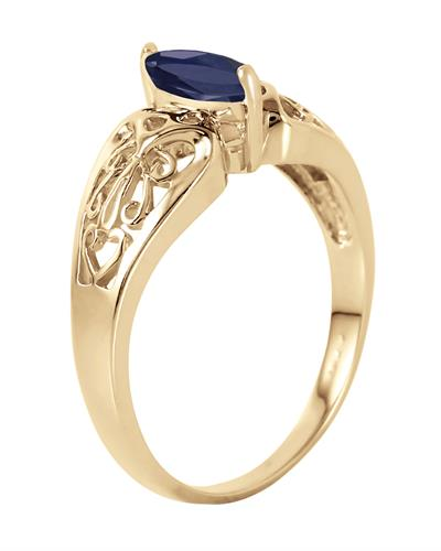 Magnolia Brand New Ring with 0.2ctw sapphire 14K Yellow gold