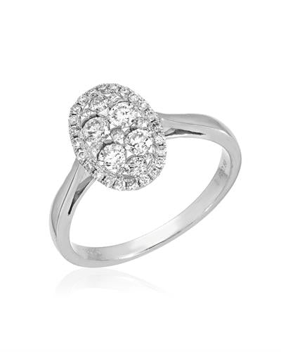 Julius Rappoport Brand New Ring with 0.56ctw diamond 18K White gold