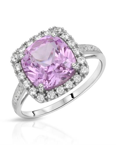 Magnolia Brand New Ring with 4.42ctw of Precious Stones - diamond, sapphire, and sapphire 10K White gold