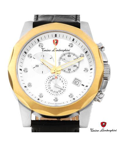 Tonino Lamborghini EN033DL.302 Brand New Swiss Movement day date Watch with 0.05ctw diamond
