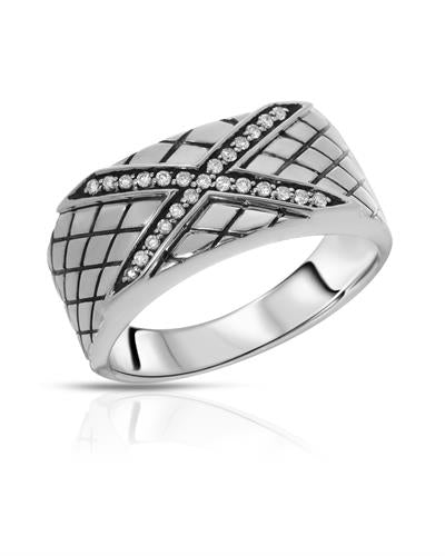 Currency Brand New Ring with 0.18ctw diamond 925 Silver sterling silver