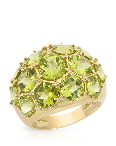 Magnolia Brand New Ring with 11.5ctw peridot 14K Yellow gold