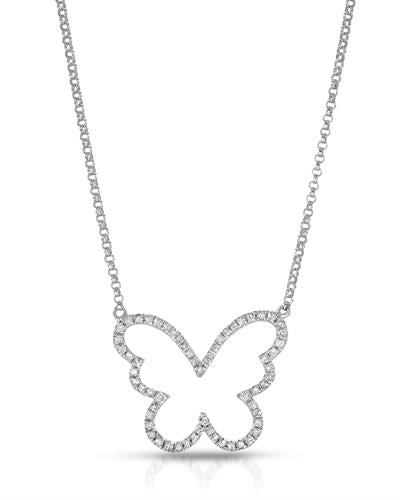 Brand New Necklace with 0.28ctw diamond 14K White gold