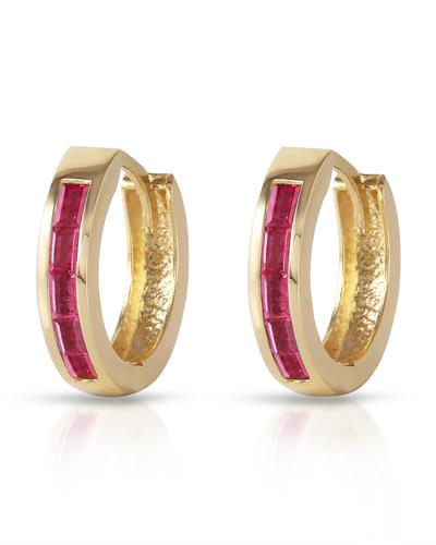 Magnolia Brand New Earring with 1.3ctw ruby 14K Yellow gold