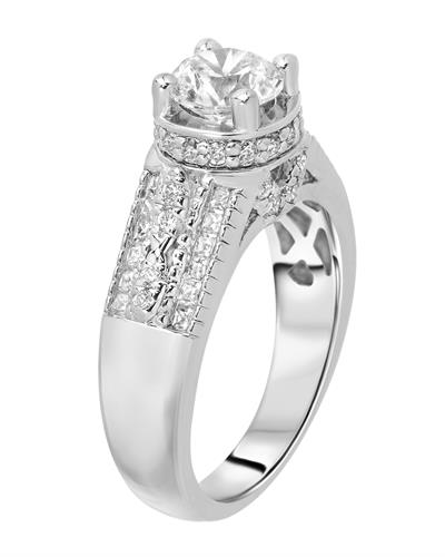 Brand New Ring with 2ctw of Precious Stones - cubic zirconia and cubic zirconia 925 Silver sterling silver