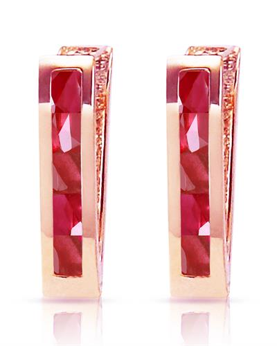 Magnolia Brand New Earring with 1.3ctw ruby 14K Rose gold