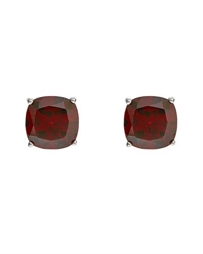 Brand New Earring with 3.06ctw garnet 925 Silver sterling silver