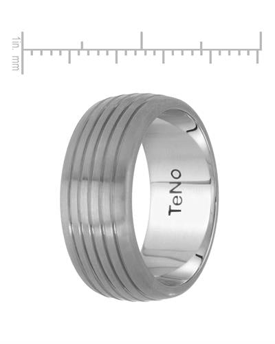 TeNo Brand New Ring with 0.05ctw diamond  Metallic Stainless steel