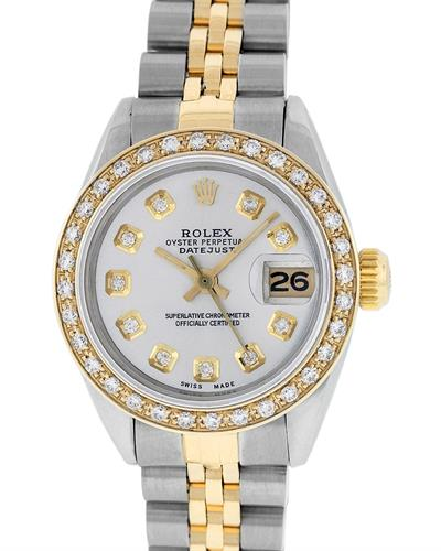 Rolex PreOwned Automatic (Self Winding) date Watch with 0.85ctw diamond