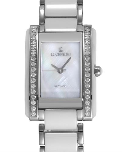 LC le Chateau 5866-L Brand New Japan Quartz Watch with 0ctw of Precious Stones - crystal and mother of pearl