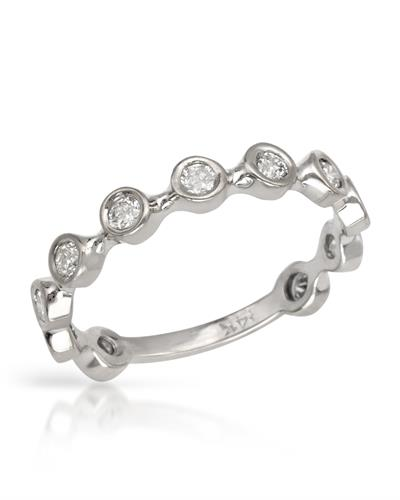 Brand New Ring with 0.55ctw diamond 14K White gold
