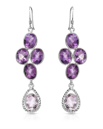 Brand New Earring with 15.25ctw amethyst 925 Silver sterling silver
