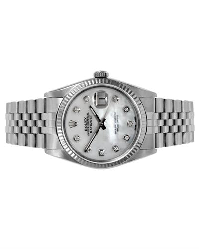 Rolex 16014 PreOwned Automatic date Watch with 0.1ctw diamond