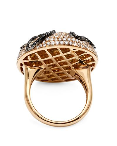 Brand New Ring with 3.57ctw of Precious Stones - diamond and diamond 18K Two tone gold