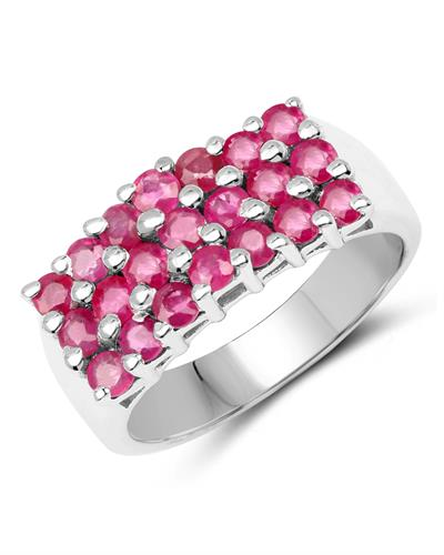 Brand New Ring with 1.68ctw ruby 925 Silver sterling silver