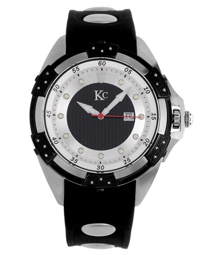 KC WA008480 Brand New Japan Quartz day date Watch with 0.036ctw diamond