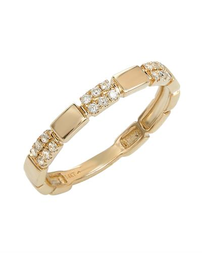 Brand New Ring with 0.14ctw diamond 14K Yellow gold