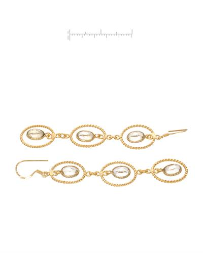 Brand New Earring with 7.05ctw quartz 10K/925 Yellow Gold plated Silver