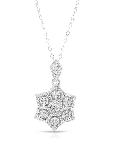 Brand New Necklace with 0.75ctw diamond 10K White gold