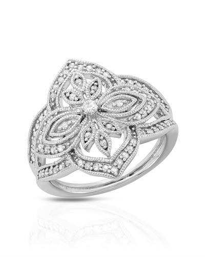 Brand New Ring with 0.38ctw diamond 925 Silver sterling silver