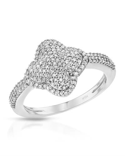 Lundstrom Brand New Ring with 0.45ctw diamond 10K White gold
