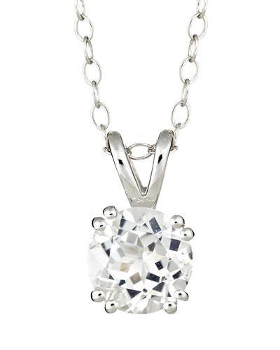 Brand New Necklace with 1.5ctw topaz 925 Silver sterling silver