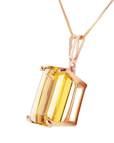 Magnolia Brand New Necklace with 6.5ctw citrine 14K Rose gold