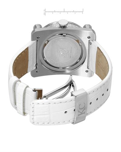 Techno Com by KC WA009454 Brand New Japan Quartz Watch with 3ctw of Precious Stones - diamond and mother of pearl