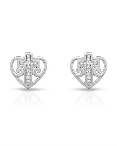 Whitehall Brand New Earring with 0.06ctw diamond 14K White gold