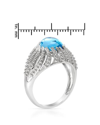 Brand New Ring with 3.65ctw topaz 925 Silver sterling silver