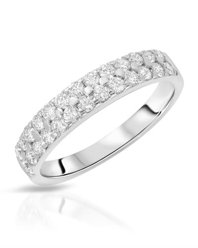 Julius Rappoport Brand New Ring with 0.65ctw diamond 14K White gold