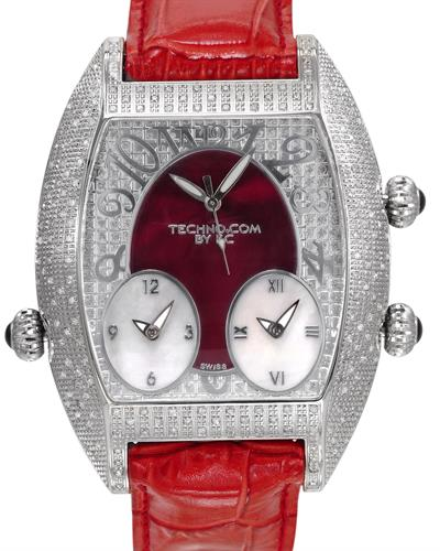 Techno Com WA007481 Brand New Swiss Movement Watch with 2.9ctw of Precious Stones - diamond and mother of pearl
