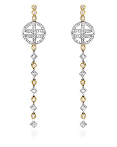Brand New Earring with 1.1ctw diamond 18K Two tone gold