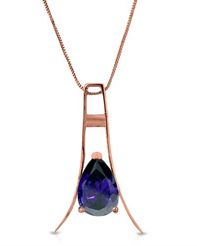 Magnolia Brand New Necklace with 1.5ctw sapphire 14K Rose gold