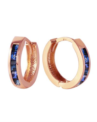 Magnolia Brand New Earring with 1.3ctw sapphire 14K Rose gold