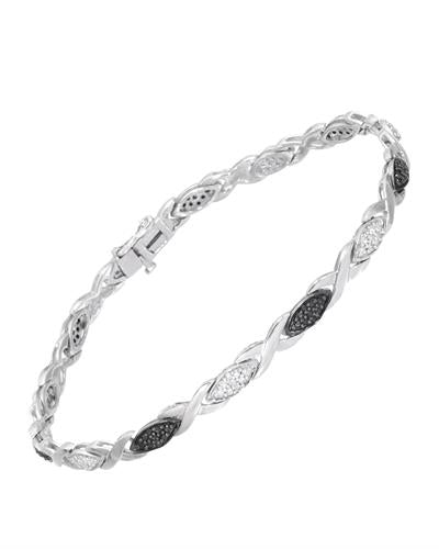 Brand New Bracelet with 0.5ctw of Precious Stones - diamond and diamond 925 Silver sterling silver