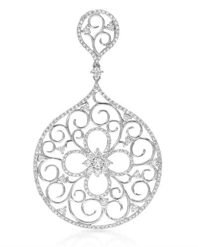 Brand New Pendant with 1.38ctw diamond 14K White gold