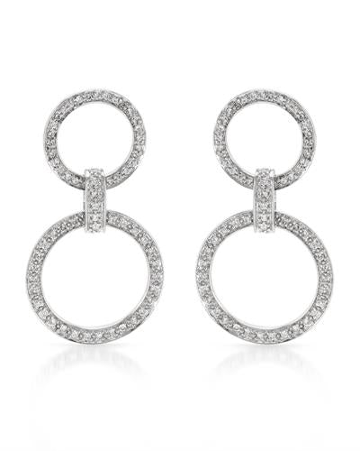Brand New Earring with 1.29ctw diamond 14K White gold