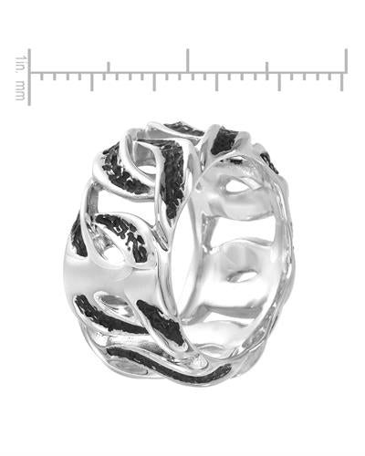 Currency Brand New Ring with 0.23ctw diamond 925 Two tone sterling silver