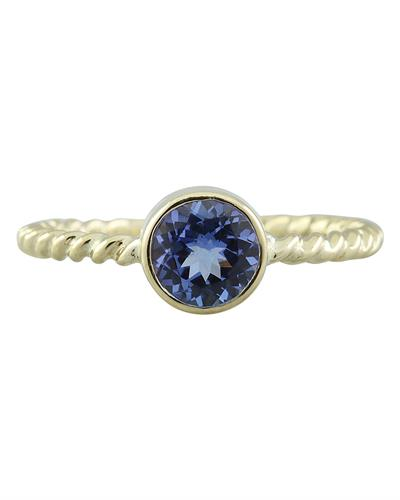 Brand New Ring with 1ctw tanzanite 14K Yellow gold