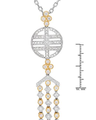Brand New Necklace with 2.25ctw diamond 18K Two tone gold