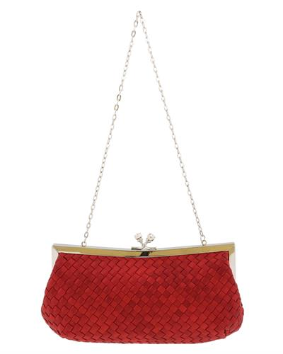 Scheilan Brand New Clutch  Red Fabric