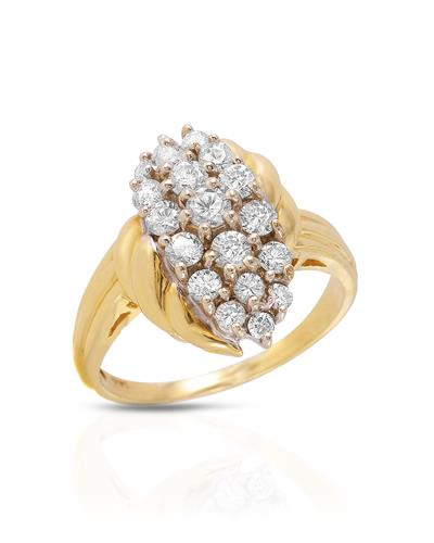 Brand New Ring with 1ctw diamond 14K Yellow gold