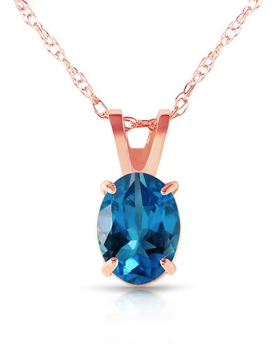 Magnolia Brand New Necklace with 0.85ctw topaz 14K Rose gold